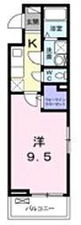 東武野田線 豊春駅 徒歩6分の賃貸アパート 1階1Kの間取り