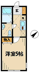 アザーレ・クオン新百合ヶ丘II 1階1Kの間取り