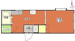 神奈川県横浜市神奈川区松本町3丁目の賃貸マンションの間取り