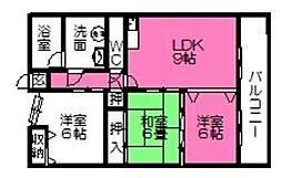 No.8山一ビル[605号室]の間取り