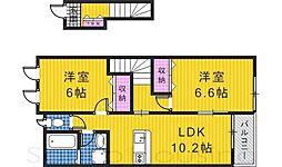 コンフォースMIYA2[2階]の間取り