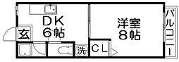 城山ハイツ[2階]の間取り