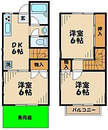 [テラスハウス] 東京都多摩市和田 の賃貸【/】の間取り