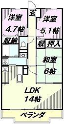 パルクメゾン[2階]の間取り