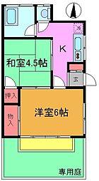 [一戸建] 千葉県市川市大和田1丁目 の賃貸【/】の間取り