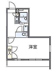 JR高崎線 鴻巣駅 徒歩27分の賃貸アパート 2階1Kの間取り