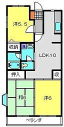 シャルマンU[4階]の間取り