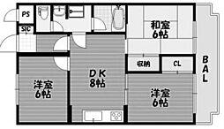 セラビ向ヶ丘[4階]の間取り