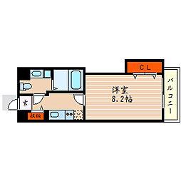 滋賀県彦根市尾末町の賃貸マンションの間取り