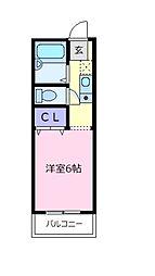 セジュールF A棟[2階]の間取り