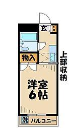 東京都八王子市堀之内3の賃貸マンションの間取り