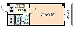 クリオ福島[6階]の間取り