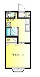 キャニオンヴィラ[1階]の間取り