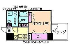 アドバンス西梅田IVエール[11階]の間取り