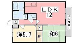 コスモハイツ[103号室]の間取り
