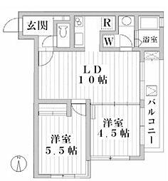 ATRIUM・T[202号室]の間取り