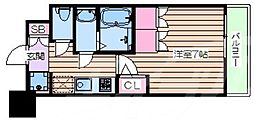 おおさか東線 JR淡路駅 徒歩6分の賃貸マンション 7階1Kの間取り