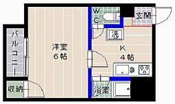 サンドーム地行[2階]の間取り