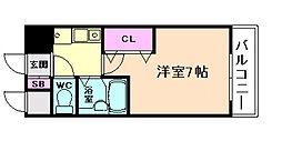 ラナップスクエア北梅田シティ[3階]の間取り
