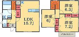 [一戸建] 千葉県千葉市中央区宮崎町 の賃貸【/】の間取り