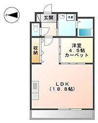 大阪府堺市美原区小寺の賃貸マンションの間取り