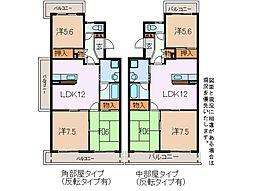 ファミール三井III[3階]の間取り