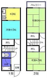 [テラスハウス] 東京都昭島市福島町2丁目 の賃貸【/】の間取り