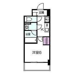 TOSHIN FUMINOSATO 8階1Kの間取り