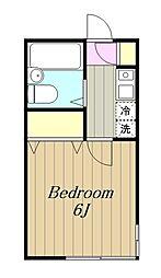 神奈川県横浜市旭区笹野台1の賃貸アパートの間取り