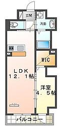 仮)本町新築マンション 4階1LDKの間取り