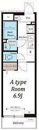 JR京浜東北・根岸線 大宮駅 徒歩7分の賃貸マンション 3階1Kの間取り