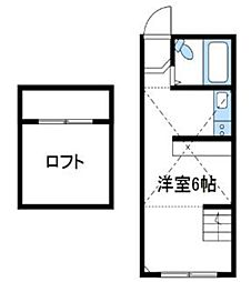 神奈川県厚木市飯山の賃貸アパートの間取り