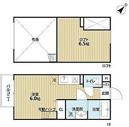 南海線 湊駅 徒歩17分の賃貸アパート 2階1Kの間取り