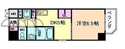 プレサンス江戸堀[6階]の間取り