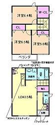 [一戸建] 兵庫県川西市久代3丁目 の賃貸【兵庫県/川西市】の間取り