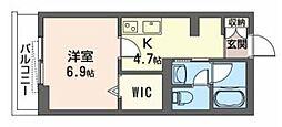 JR武蔵野線 三郷駅 徒歩5分の賃貸アパート 1階1Kの間取り