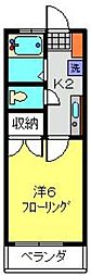 神奈川県横浜市港北区日吉本町3丁目の賃貸アパートの間取り