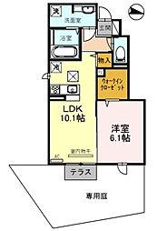 エクレール福井[110号室]の間取り