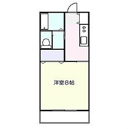 シャトーオガワ[1階]の間取り