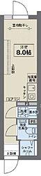 JR中央線 阿佐ヶ谷駅 徒歩6分の賃貸マンション 4階ワンルームの間取り