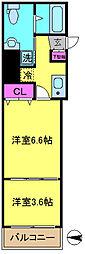 アクシーズタワー大門町[9階]の間取り