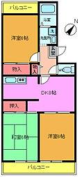 サンシティヒコタA3[307号室]の間取り