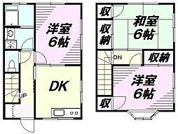 [テラスハウス] 東京都八王子市横川町 の賃貸【東京都 / 八王子市】の間取り
