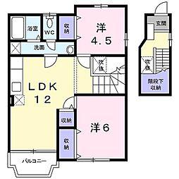 ヴィレッジハウスI[2階]の間取り