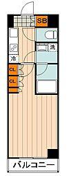 都営三田線 本蓮沼駅 徒歩7分の賃貸マンション 1階1Kの間取り