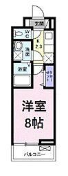 JR京浜東北・根岸線 浦和駅 徒歩24分の賃貸アパート 3階1Kの間取り