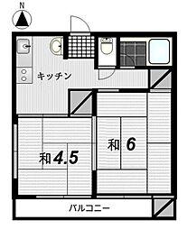 小林コーポ[107号室]の間取り