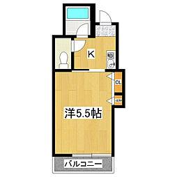 永和第三ビル[4階]の間取り