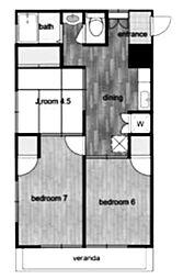 西立川TIKビル[2階]の間取り