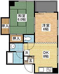 昭和ハイツ新中川[5階]の間取り